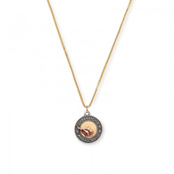 Alex And Ani LIBERTY COPPER CARRY LIGHT 14kt Gold Necklace Necklaces