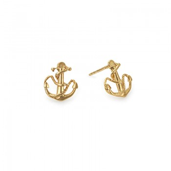 Alex And Ani Anchor Post Earrings