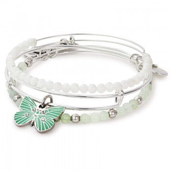 Alex And Ani Butterfly Set of 3 Bracelets
