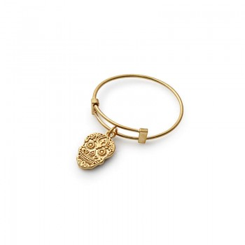 Alex And Ani Calavera Expandable Wire Ring Rings