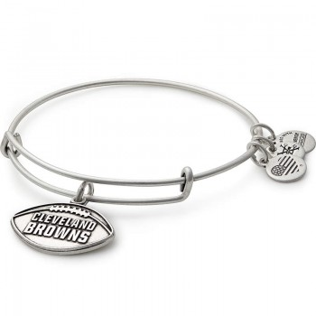 Alex And Ani Cleveland Browns Football Charm Bangle Bracelets
