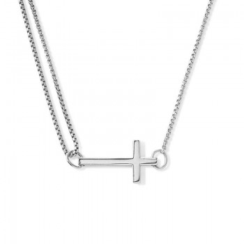 Alex And Ani Cross Pull Chain Necklace Necklaces