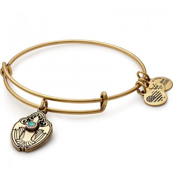 Alex And Ani Crystal Dove Charm Bangle Bracelets