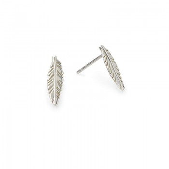Alex And Ani Feather Post Earrings