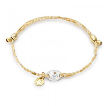 Alex And Ani Golden Ray Crystal Precious Threads Bracelet Bracelets