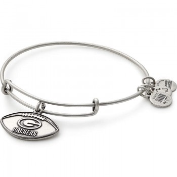 Alex And Ani Green Bay Packers Football Charm Bangle Bracelets