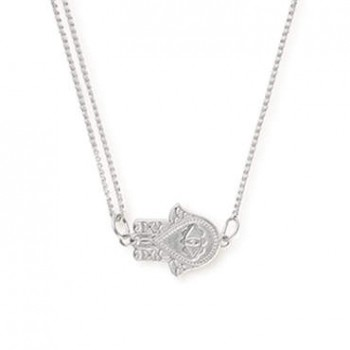Alex And Ani Hand of Fatima Pull Chain Necklace Necklaces