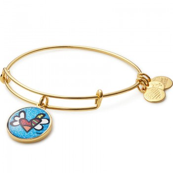 Alex And Ani Heart with Wings Art Infusion Charm Bangle | Romero Britto - Bracelets