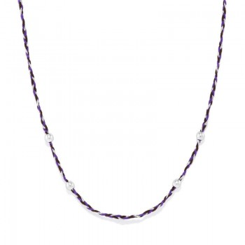 Alex And Ani Inky Purple Precious Threads Necklace Necklaces