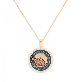 Alex And Ani LIBERTY COPPER CARRY LIGHT Diamond Necklace Necklaces