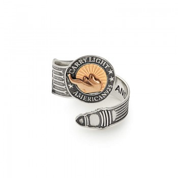 Alex And Ani LIBERTY COPPER CARRY LIGHT Gold Spoon Ring Rings