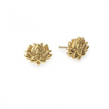 Alex And Ani Lotus Peace Petals Post Earrings