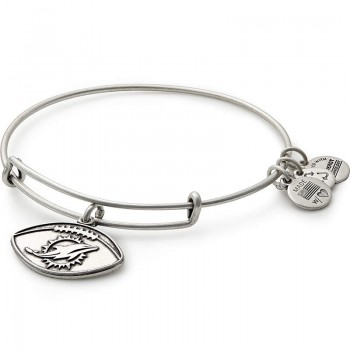 Alex And Ani Miami Dolphins Football Charm Bangle Bracelets
