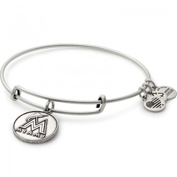 Alex And Ani Miami Marlins Cap Logo Charm Bracelet Bracelets