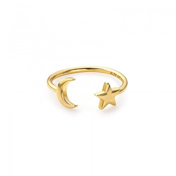 Alex And Ani Moon and Star Ring Wrap Rings