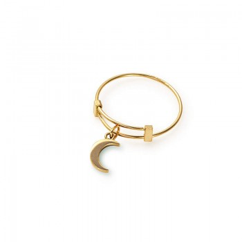 Alex And Ani Moon Expandable Wire Ring Rings