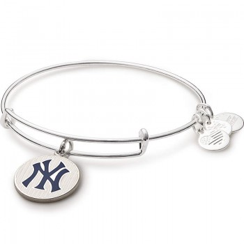 Alex And Ani New York Yankees Pinstripes Charm Bangle Bracelets