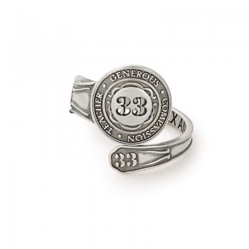 Alex And Ani Number 33 Spoon Ring Rings