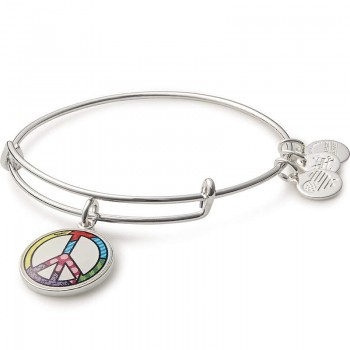 Alex And Ani Peace Sign Art Infusion Charm Bracelet Bracelets