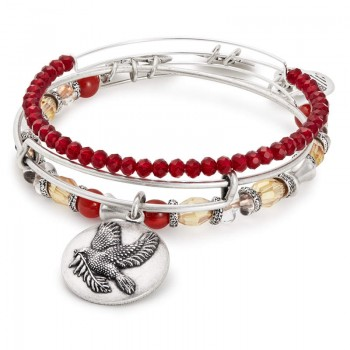 Alex And Ani Sacred Dove Set of 3 Bracelets