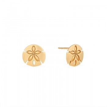 Alex And Ani Sand Dollar Post Earrings