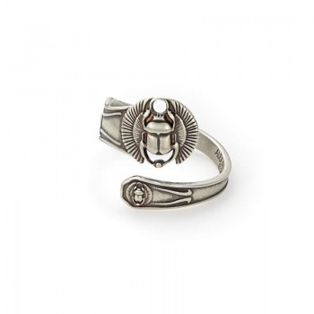 Alex And Ani Scarab Spoon Ring Rings