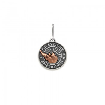 Alex And Ani Small Silver Charm | LIBERTY COPPER CARRY LIGHT Necklaces