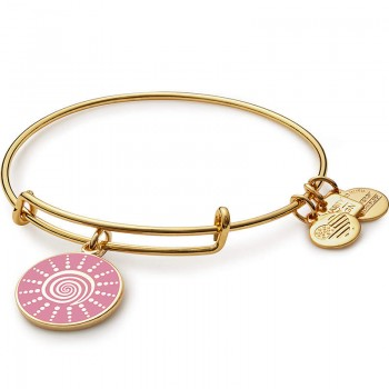 Alex And Ani Spiral Sun Charm Bangle | Breast Cancer Research Foundation Bracelets
