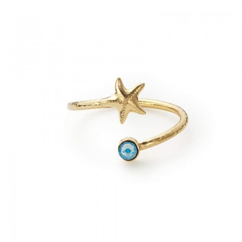 Alex And Ani Starfish Wrap Ring Rings