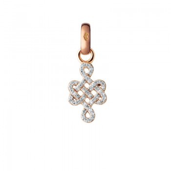 Links Of London 18kt Rose Gold & Diamond Infinity Knot Charm