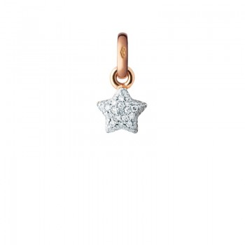 Links Of London 18kt Rose Gold & Diamond Pave Mini Star Charm