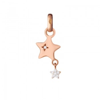 Links Of London 18kt Rose Gold & Diamond Shooting Star Charm
