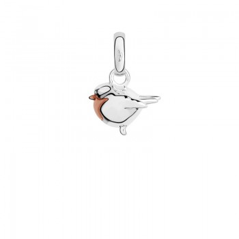 Links Of London 18kt Rose Gold Vermeil & Silver Robin Charm