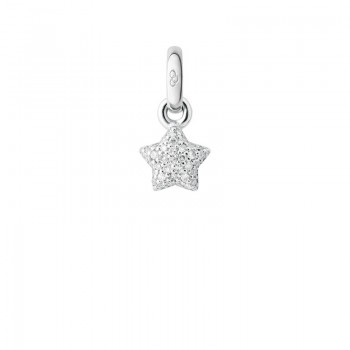 Links Of London 18kt White Gold & Diamond Pave Mini Star Charm