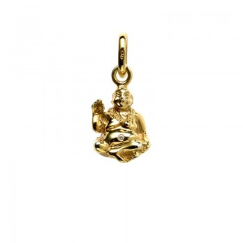 Links Of London 18kt Yellow Gold and Diamond Laughing Buddha Charm