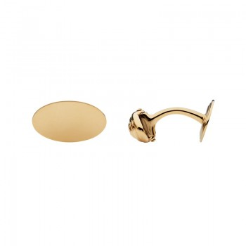 Links Of London 18kt Yellow Gold Classic Oval Cufflinks