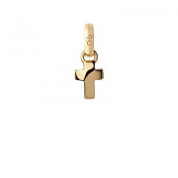 Links Of London 18kt Yellow Gold Cross Mini Charm
