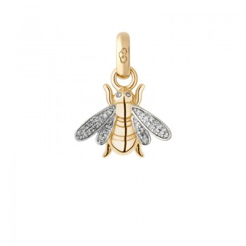 Links Of London 18kt Yellow Gold & Diamond Bee Charm