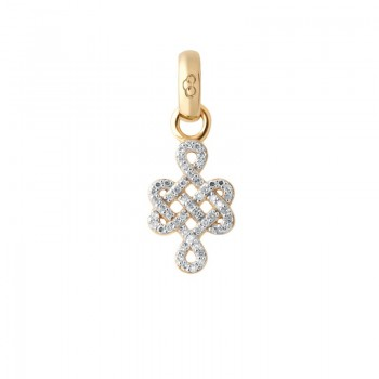 Links Of London 18kt Yellow Gold & Diamond Infinity Knot Charm