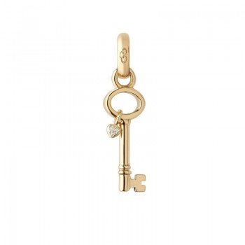 Links Of London 18kt Yellow Gold & Diamond Key To My Heart Charm