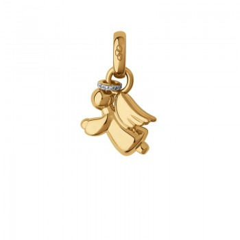 Links Of London 18kt Yellow Gold & Diamond Pave Guardian Angel Charm