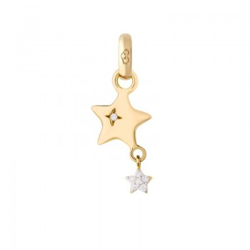 Links Of London 18kt Yellow Gold & Diamond Shooting Star Charm