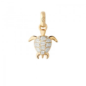 Links Of London 18kt Yellow Gold & Diamond Turtle Charm