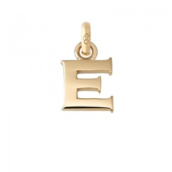 Links Of London 18kt Yellow Gold E Charm