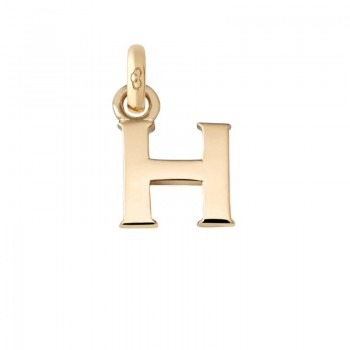 Links Of London 18kt Yellow Gold H Charm