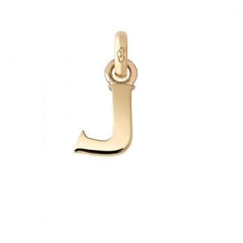 Links Of London 18kt Yellow Gold J Charm