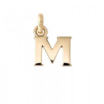 Links Of London 18kt Yellow Gold M Charm