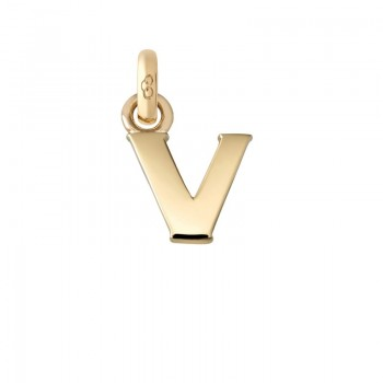 Links Of London 18kt Yellow Gold V Charm