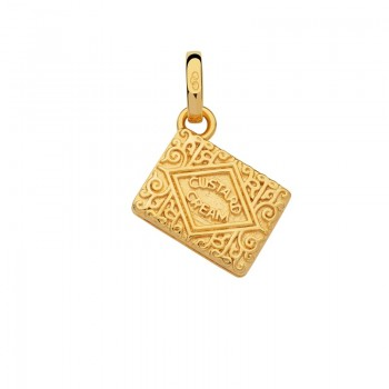 Links Of London 18kt Yellow Gold Vermeil Custard Cream Biscuit Charm