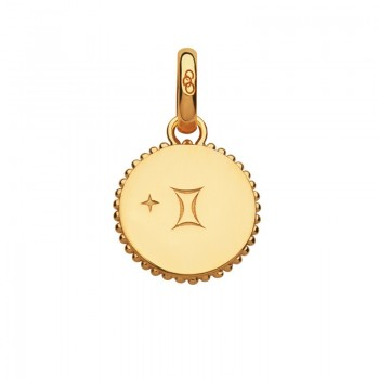 Links Of London 18kt Yellow Gold Vermeil Gemini Zodiac Charm